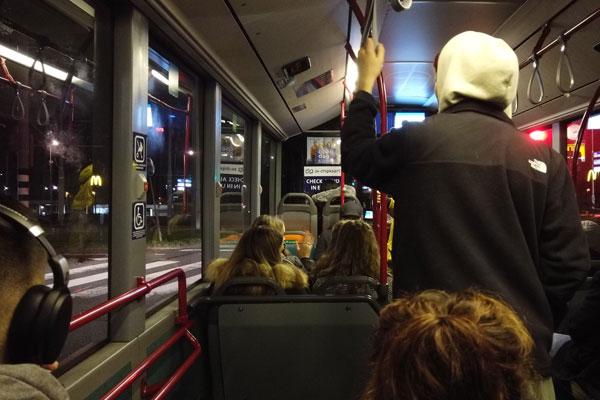Ik zat een hele nacht nuchter in de BOB-bus