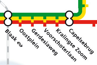 RET Metrolijnenkaart