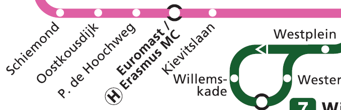 RET Tram route map